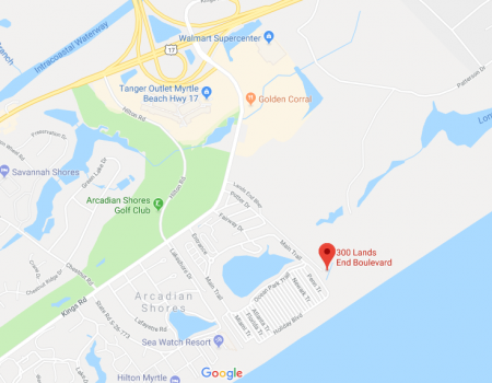 Map of 300 Land's End Blvd.